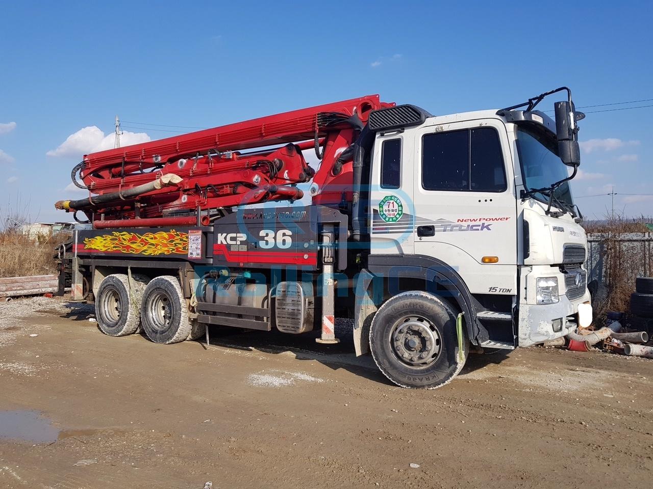 Concrete Pumps 콘크리트 펌프카 Xe bơm bê tông KCP KCP36
