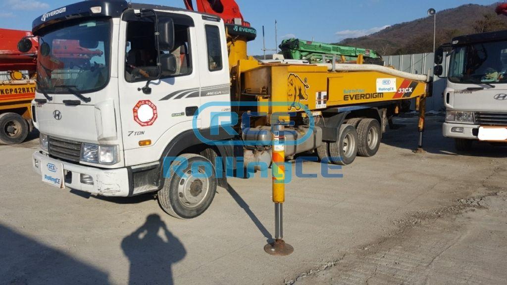 Concrete Pumps 콘크리트 펌프카 Xe bơm bê tông EVERDIGM ECP33CXL