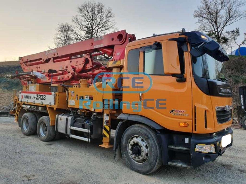Concrete Pumps 콘크리트 펌프카 Xe bơm bê tông JUNJIN JX-ZR33