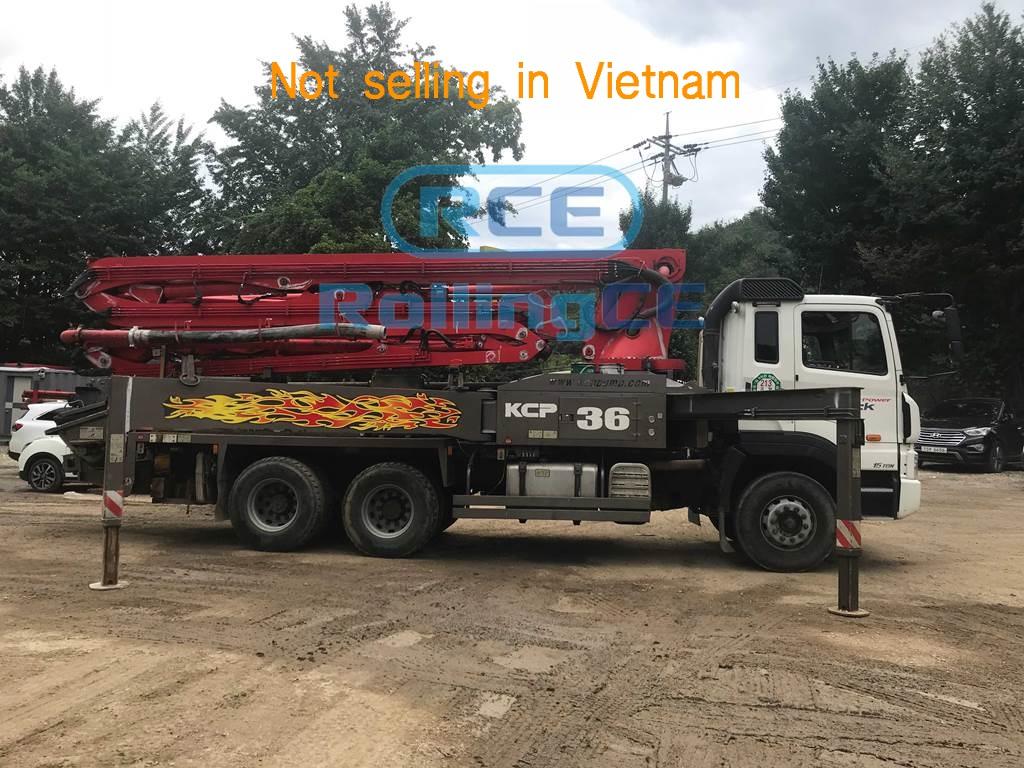 Concrete Pumps 콘크리트 펌프카 Xe bơm bê tông KCP KCP36ZX5120