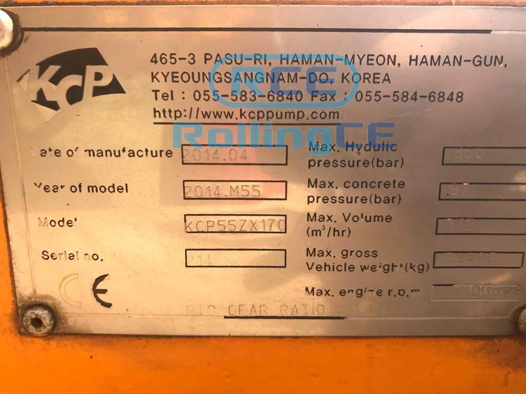 Concrete Pumps 콘크리트 펌프카 Xe bơm bê tông KCP KCP55ZX170 images